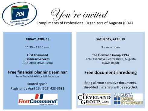 Free tax events flier
