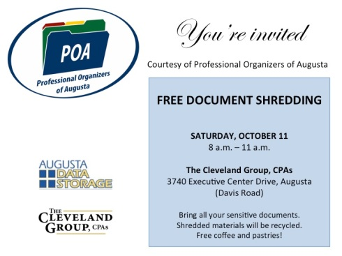 Free shred event flier